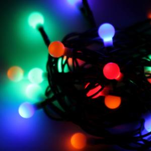 Новогодняя гирлянда 30LED шарики черри RGB 4.4м 8 режимов