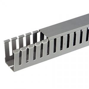 Короб перфорированный RL12 40x40 серый QUADRO (00134RL)