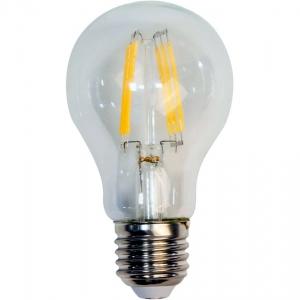 Лампа светодиодная филаментная 4вт Е27 А50 теплый СДФ-4 LED