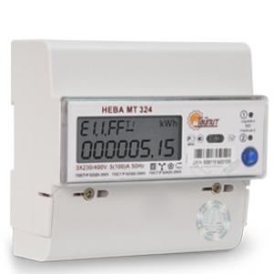 Счетчик электроэнергии трехфазный многотарифный СЭ3-100/5 Т4 Нева324 1 ARE4S 100/5 Т4 D RS485 230В оптопорт ЖК (6102340)