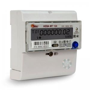 Счетчик электроэнергии однофазный многотарифный Нева 124 AS OP 60/5 Т4