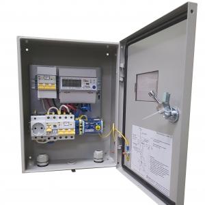 Щит учета электроэнергии трехфазный 15 кВт  на опору/дом, с розеткой DIN