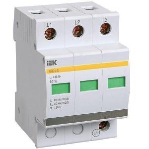 Ограничитель перенапряжения УЗИП ОПС1-С (3P,20кА,400В)