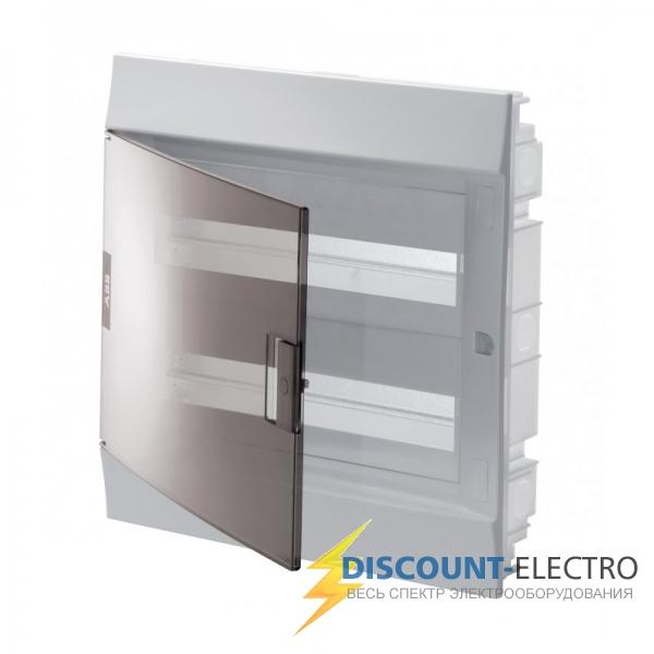 Щит распределительный встраиваемый ЩРв-п Mistral41 24М пластиковый прозрачная дверь с клеммами (1SLM004101A2205)