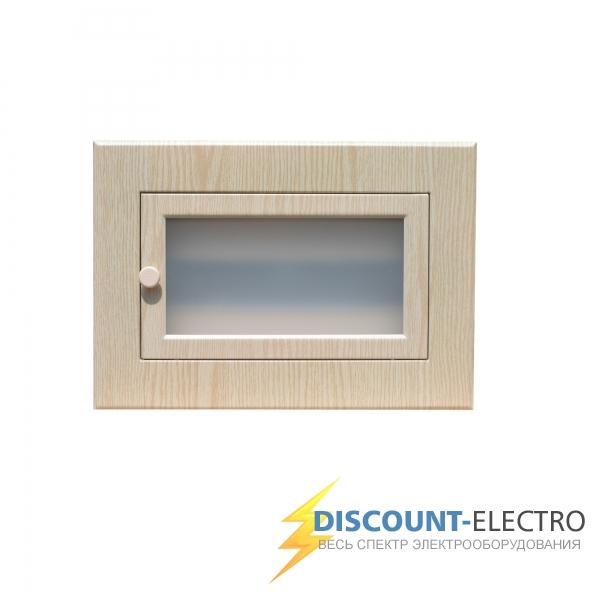 Щит квартирный электрический встраиваемый ЩРВ-12 модулей беленый дуб